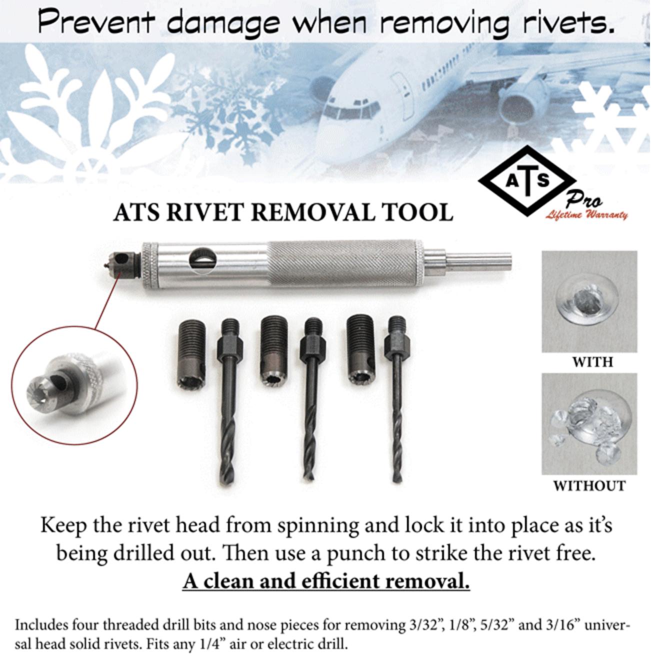 ATS rivet removal tool