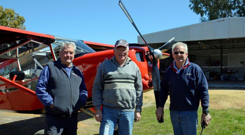 Alan Arthur, Doug Harrington and Avon Furphy of Perth, Australia with their Bearhawk Patrol.