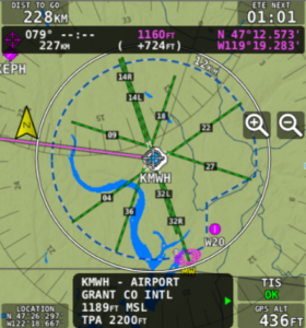 Extended Runways on Map