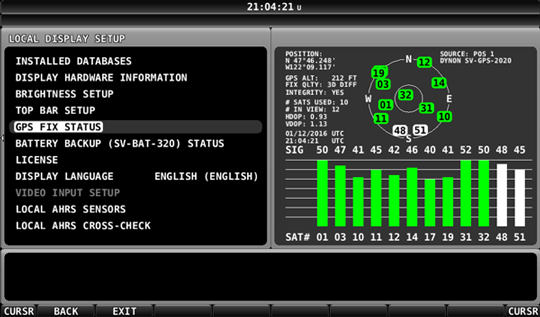 GPS Fix Status Page