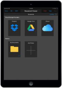 Garmin Pilot document viewer iOS