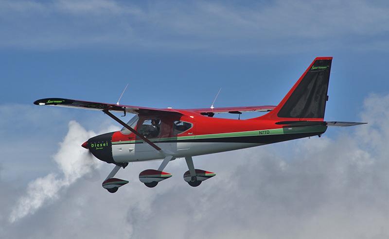 Glasair_Sportsman-Diesel-in-flight