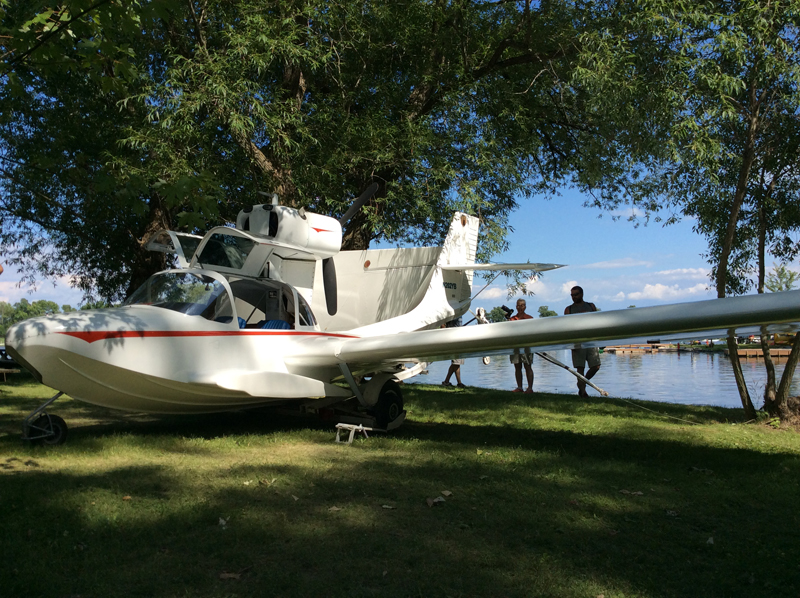 Prominently displayed Coot A amphibian built and owned by John Ohnstad of Fargo, ND.