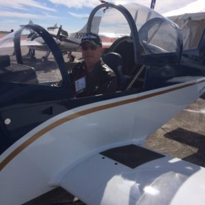 Paul Dye trying on the BD-17 for size.