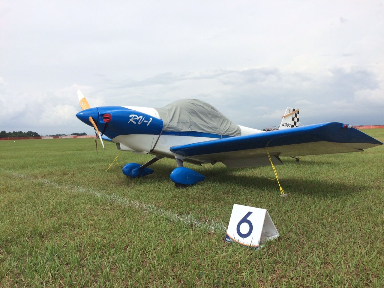 The only flying RV-1 ( one of two built) is here in Sun N Fun for the show - See it parked next to home built headquarters!