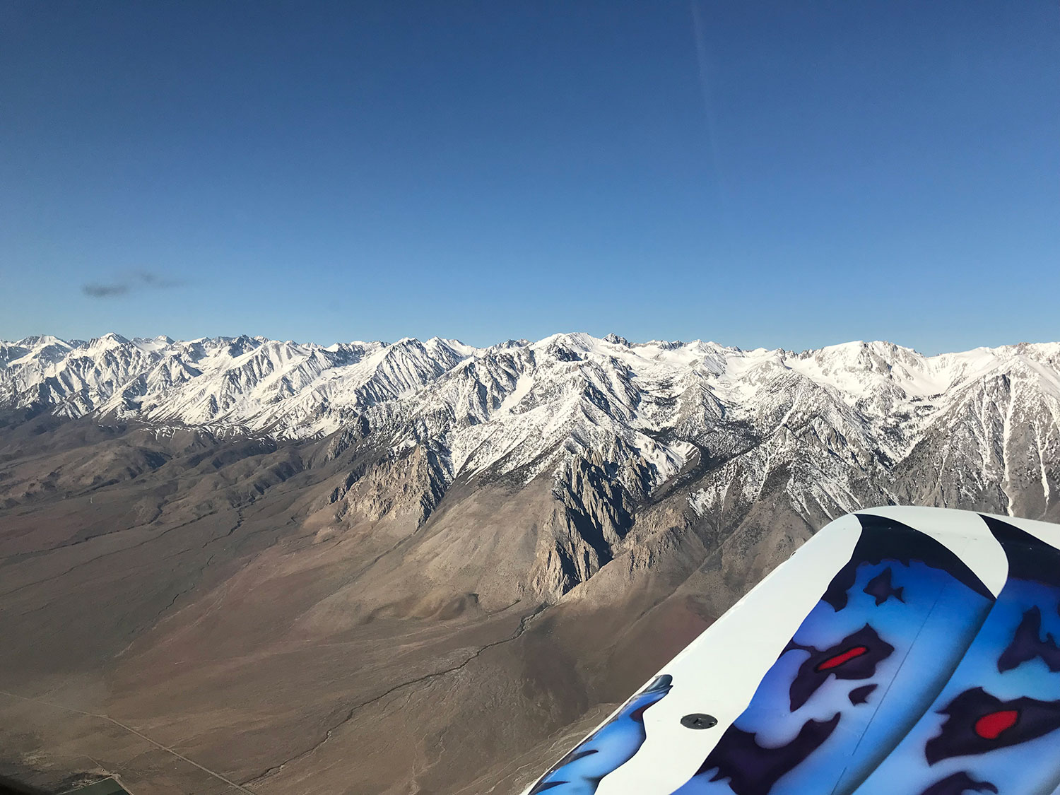 Aviating over the Sierras