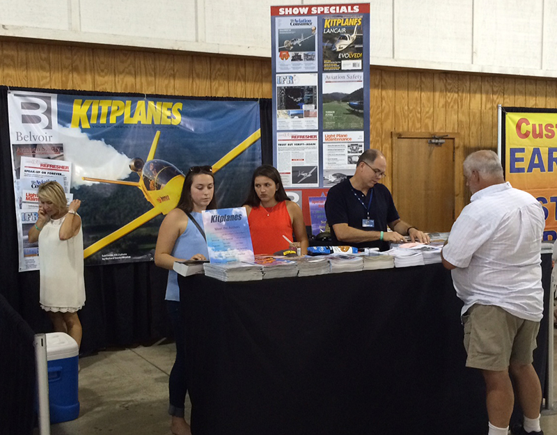 Kitplanes booth at AirVenture
