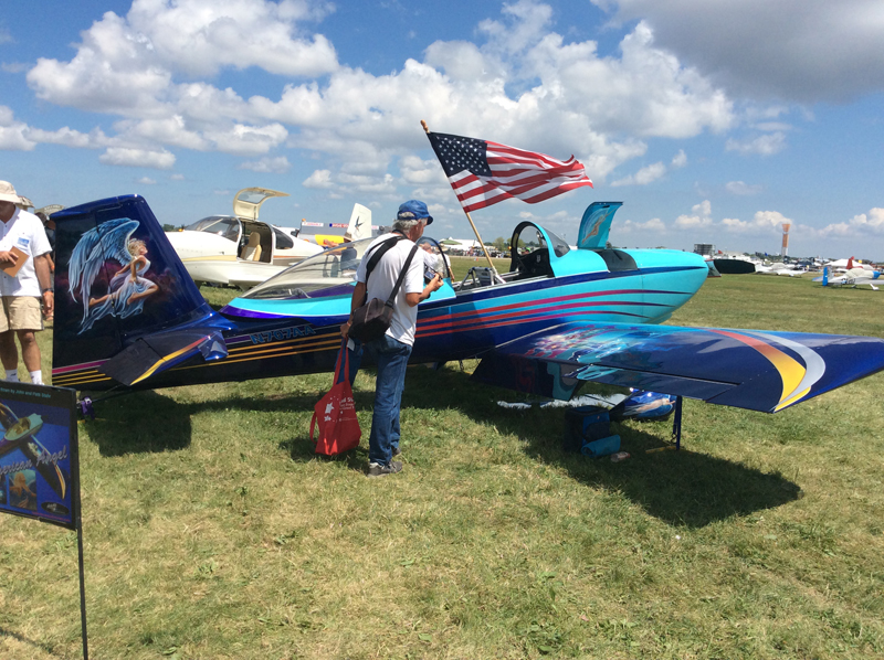 John Stahr's personal RV-8 sits next to Liberty this week and also draws a crowd.