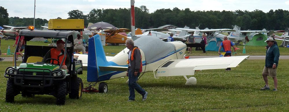 Steve Barnes' Super Six is towed into the Repair Station.