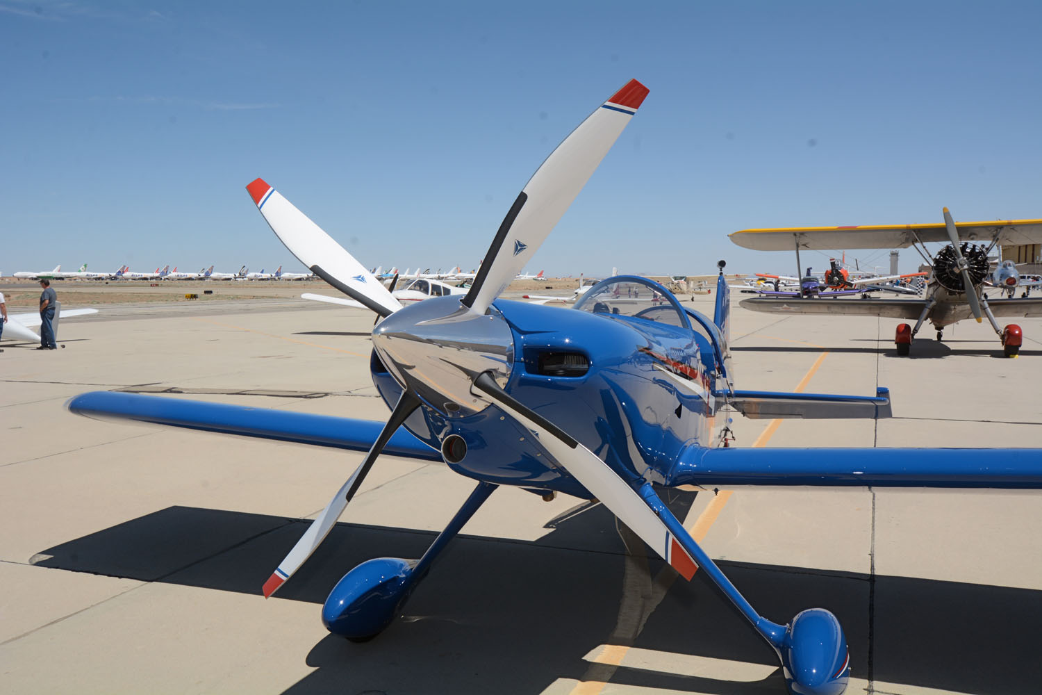 It's the 4-blade MT prop on Mark Swaney's Team Rocket F1 that everyone notices, but the rest of the plane is a lot of fun, too. Mark reports a