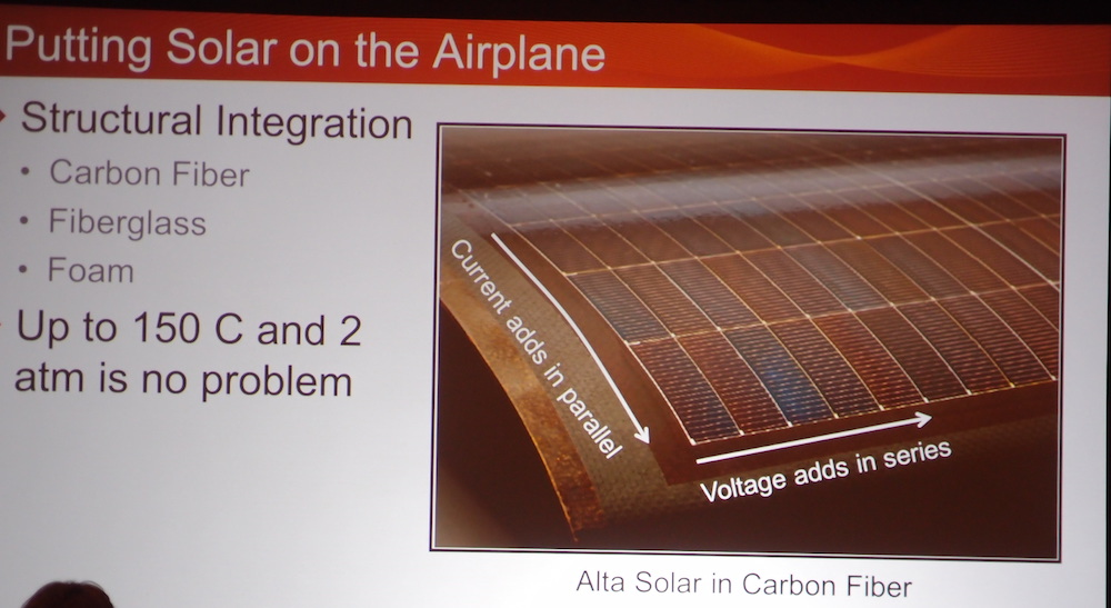 Dr. Vijh's solar panels encapsulated on a wing.