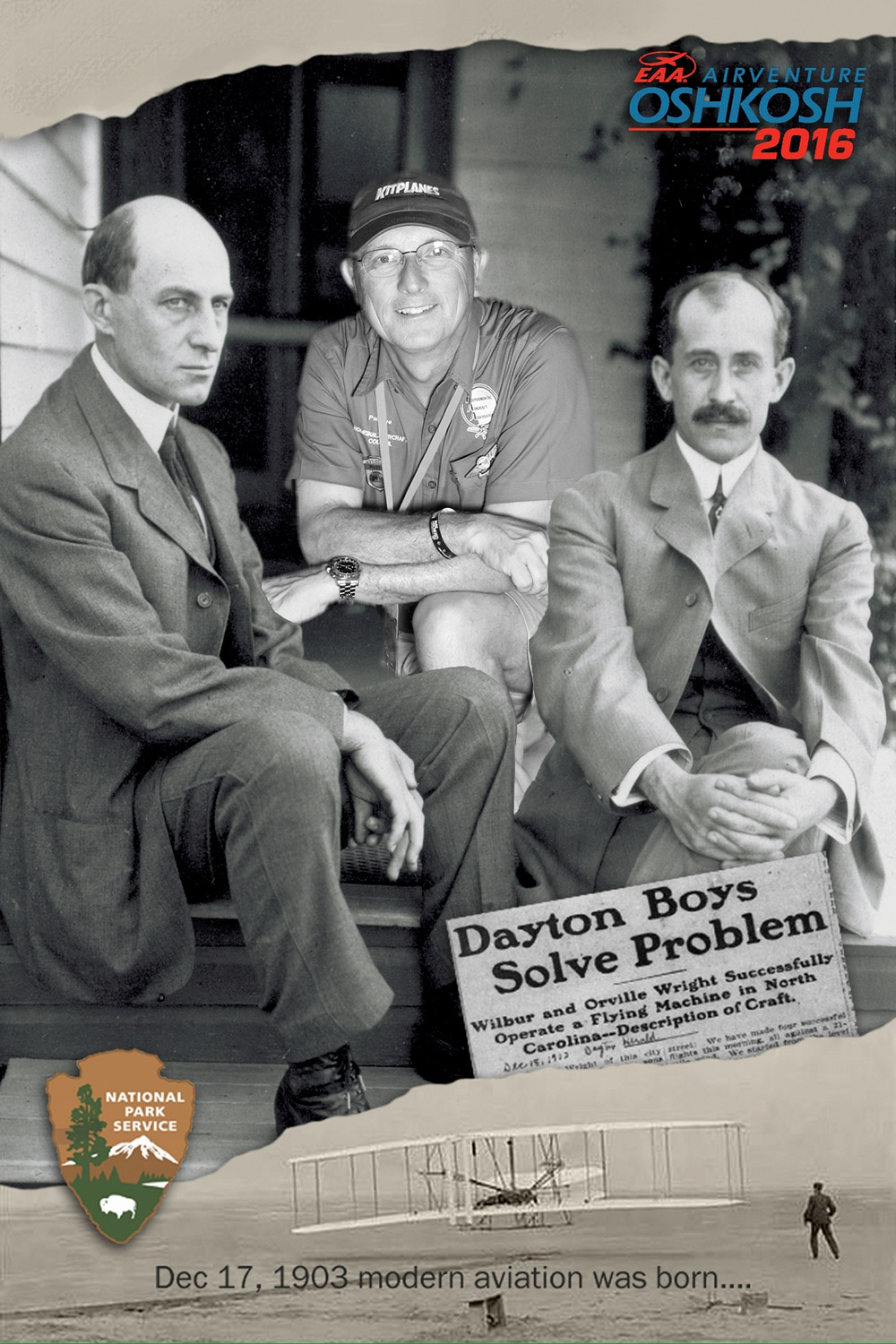 Paul Dye with Wright Brothers