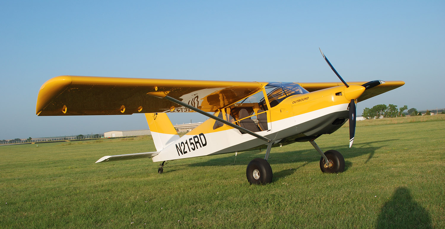 The S-21 Outbound with the Rotax 100 hp engine. The Titan engine version has not yet been flight tested but will be soon.