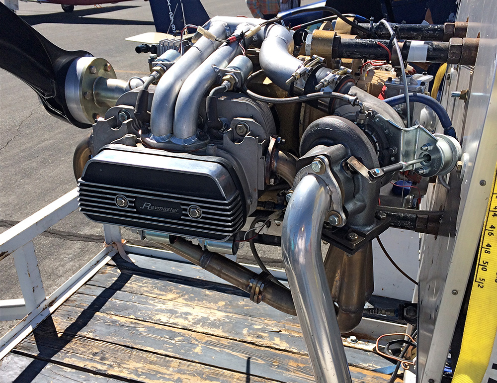 Last year Revmaster showed a their upcoming turbo VW-based engine; this year they ran the engine on a test stand. It sounded plenty healthy.