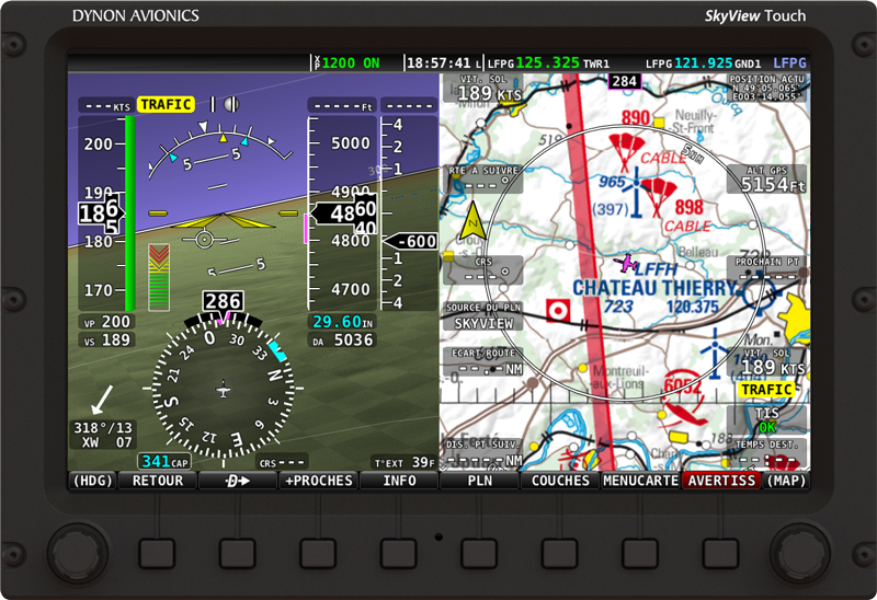 SkyView 13.0 - Parlez vous Francais? (German language also available) French ICAO charts also shown