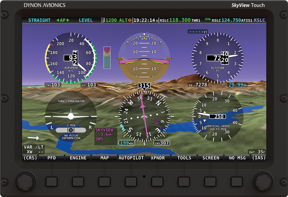 Dynon SkyView Touch EFIS with six pack PFD