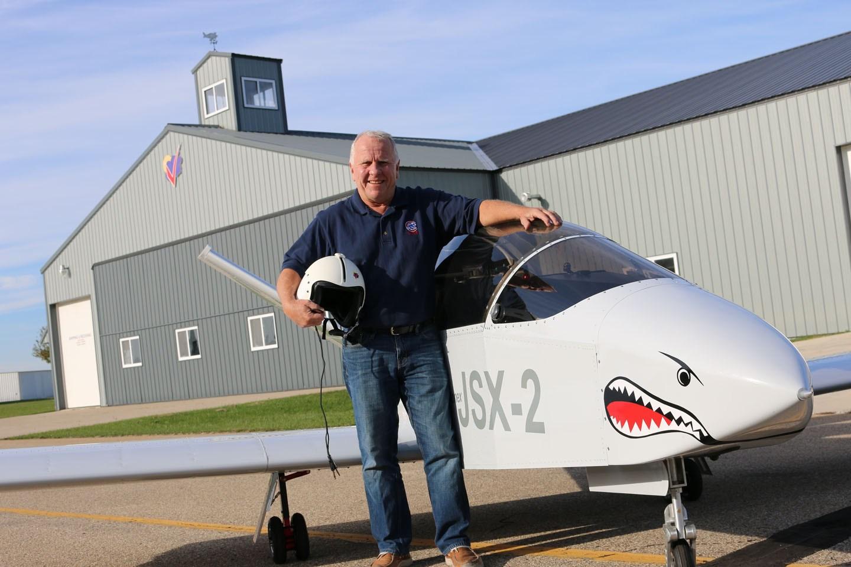 John Monett with the SubSonex jet.