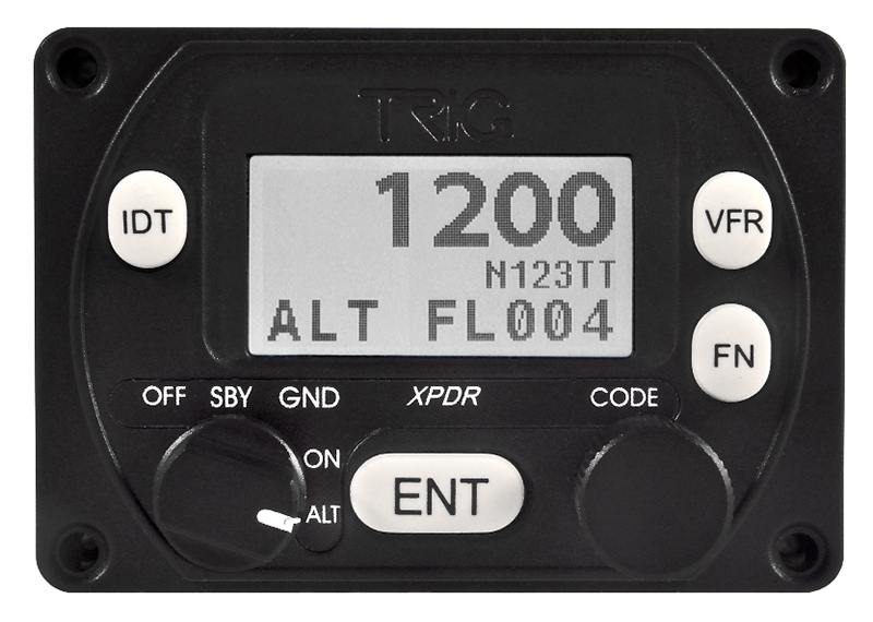 TT22 Controller When panel space and ADS-B compliance converge, Trig's TT21 compact transponder is worth a look. It fits a 2-in. hole and is just 3 ½-in. deep including wiring.