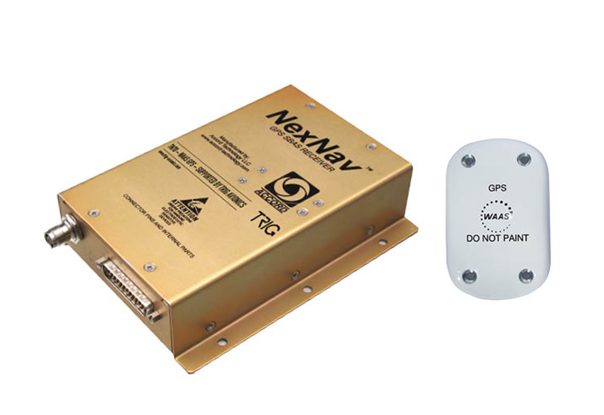 Trig TN70 certified WAAS GPS receiver and antenna.