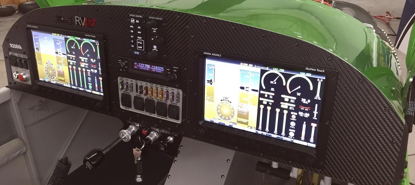 Van's RV-12 with dual Dynon Skyview
