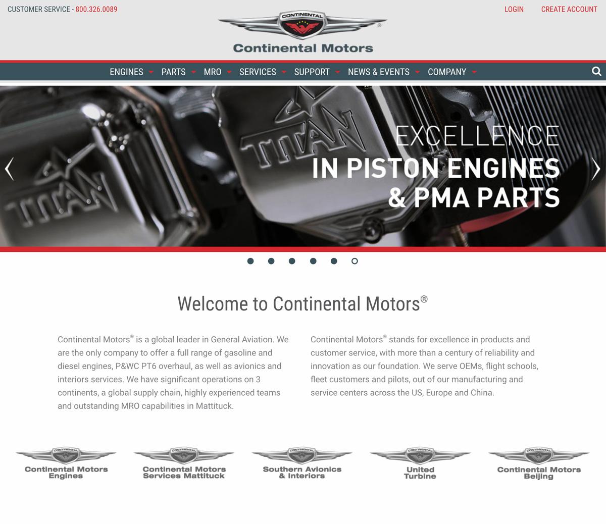 continental-website