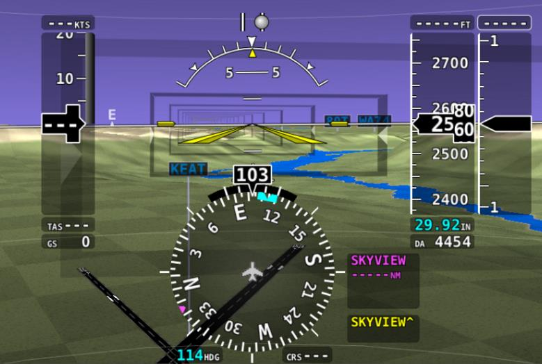 Highway in the Sky (HITS) & Airport Signposts in Synthetic Vision