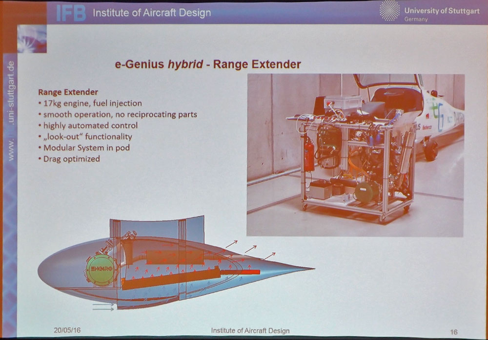 17 kilogram rotary engine will extend range of e-Genius to 1,000 kilometers (620 miles).