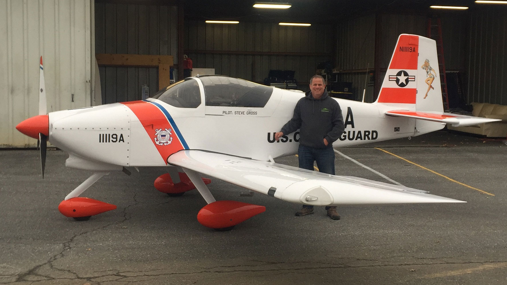 Steven Gross with his newly-completed RV-9A.