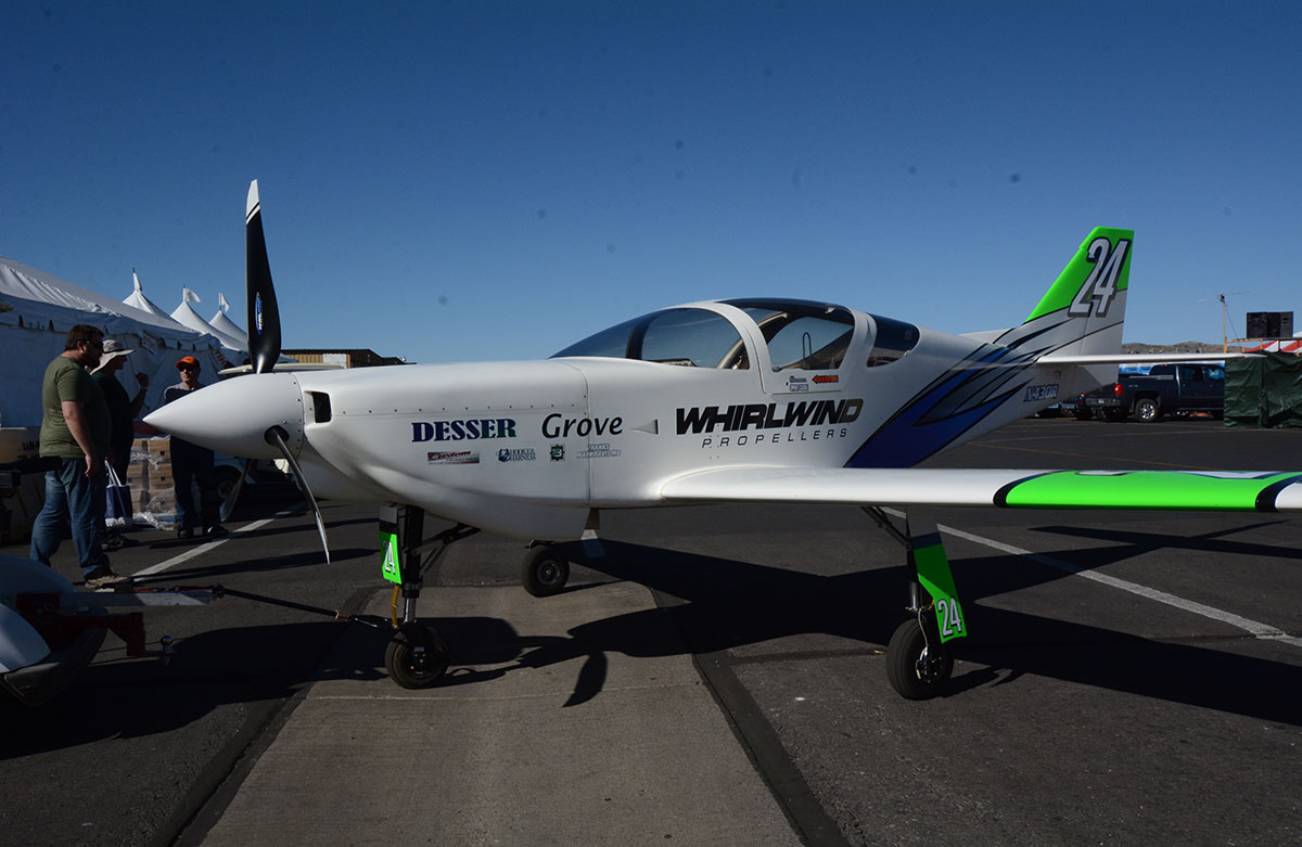 Jim Rust's and Robby Grove's new Glasair toy sports fresh, bright graphics along with much promise after a strong 359 mph fourth place finish today.