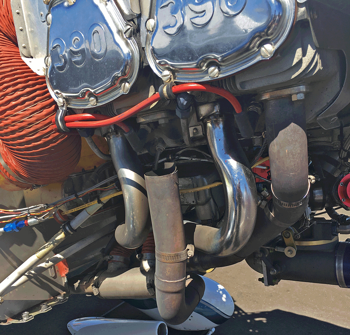 loose-exhaust-stack-lycoming