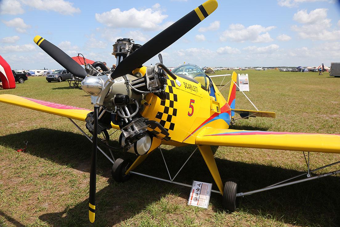Avenger V powered by a Scarlett 5V radial engine