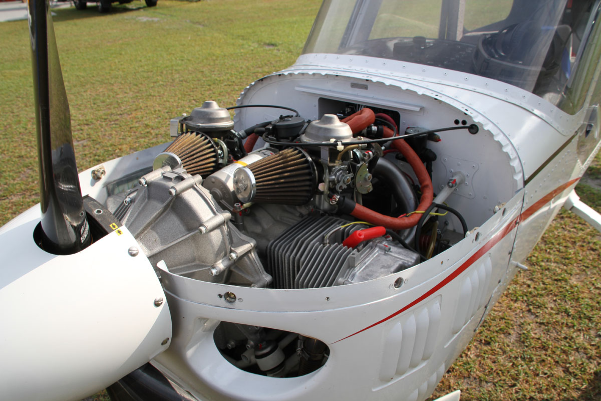A 60-horsepower HKS 700E powers this Merlin PSA.