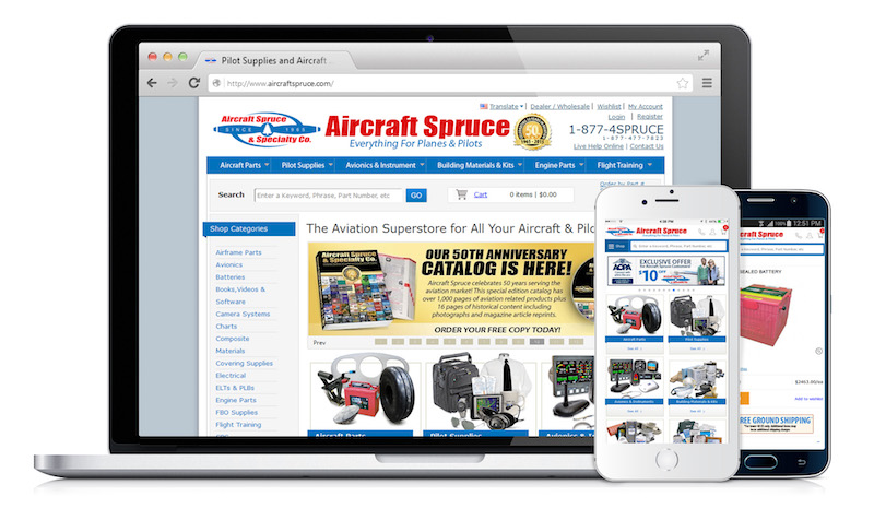 Aircraft spruce mobile
