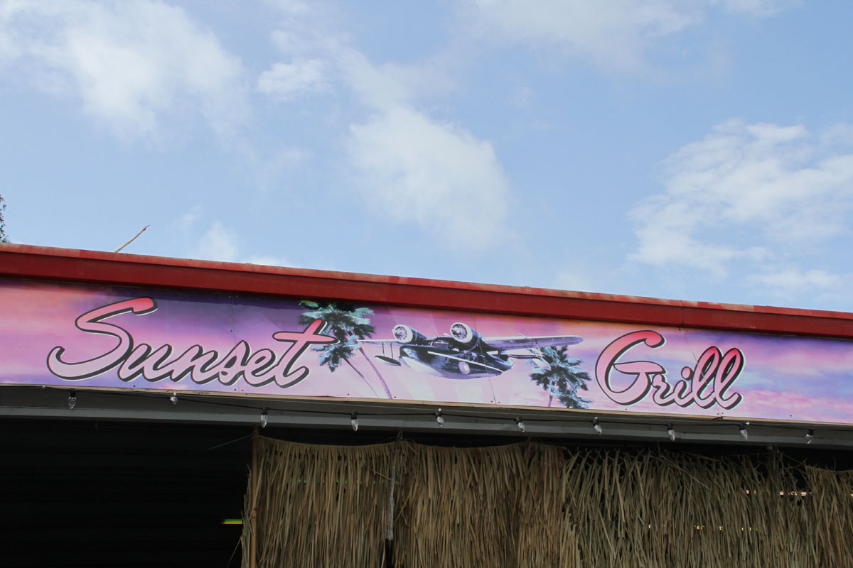 Sunset grill in Paradise City
