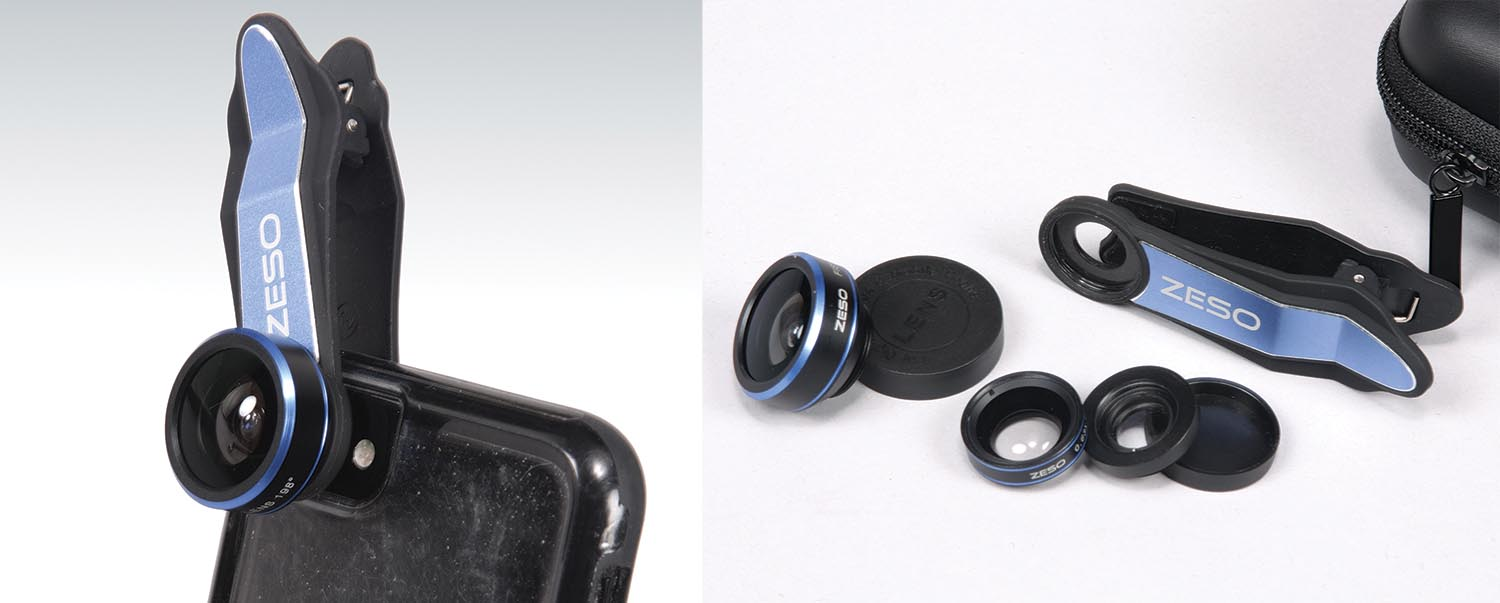 This $15 clip-on lens set for the iPhone is one of many options available from online retailers.