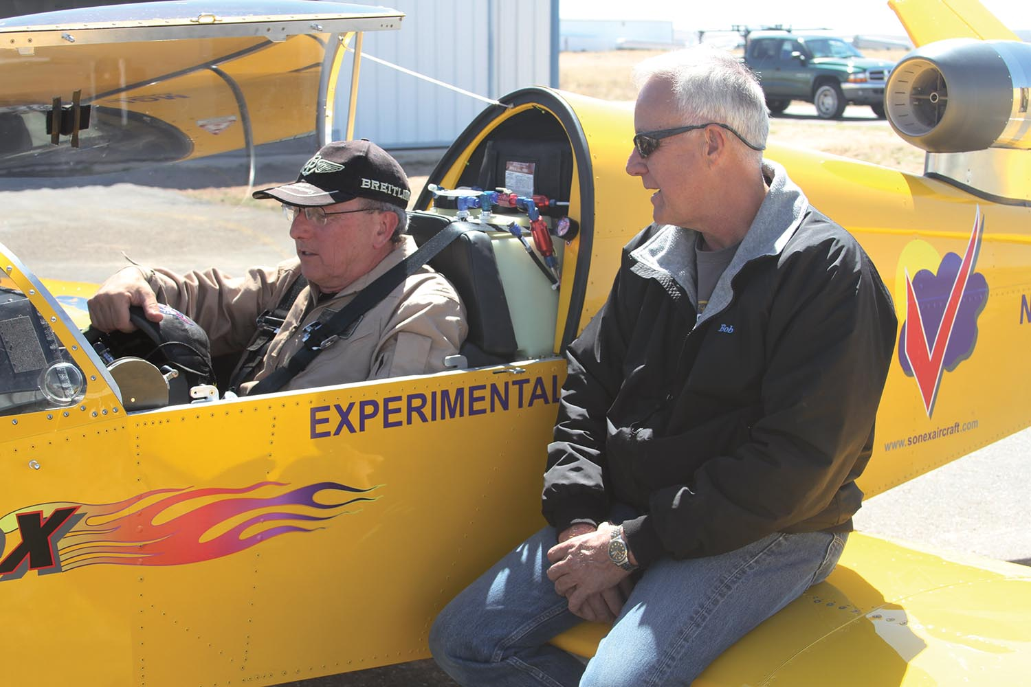 If you're going to fly an airplane with very few examples completed, find the most experienced pilot in that type, and pick their brains before going to fly. (Photo: Paul Bertorelli)