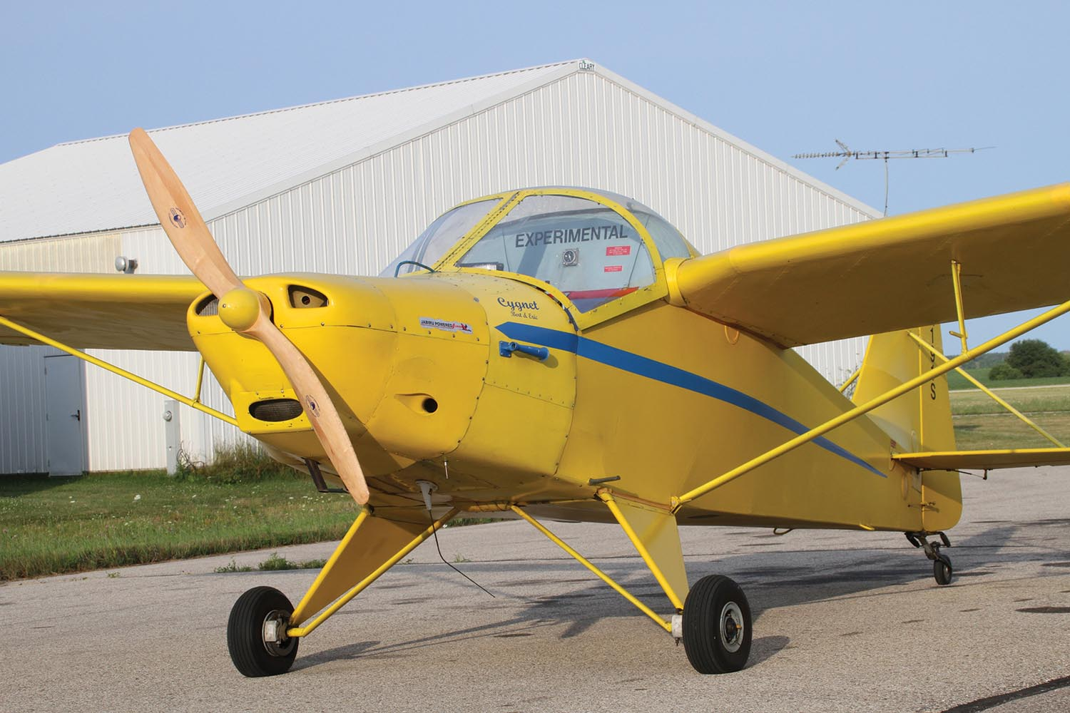 The Cygnet is a good example of an older design that doesn't follow modern rules—the sight picture is unique for a taildragger (you can see over the nose!), and the panel is old-school. Make notes and see what you like, and what you might change.