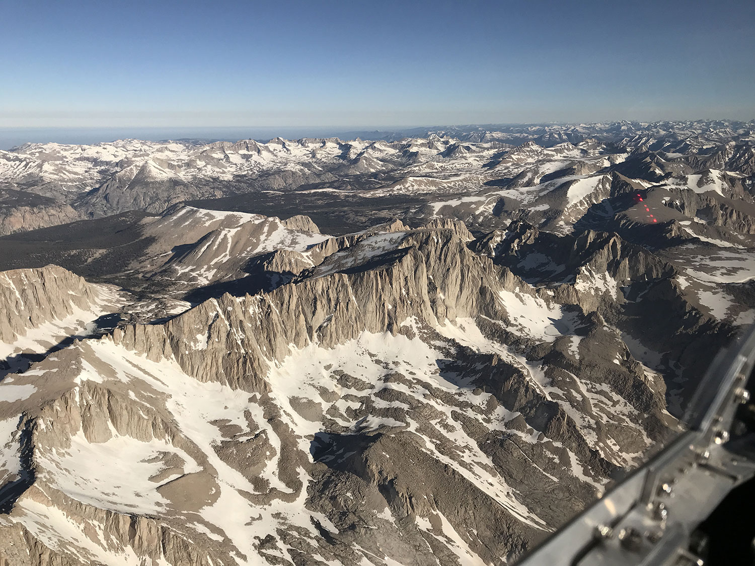 Mount Whitney is something I usually see from below, or at beast, from alongside. Its kinda fun looking down on the tallest peak in the continental US for a change.