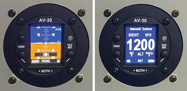 AV-20 display transponder modes