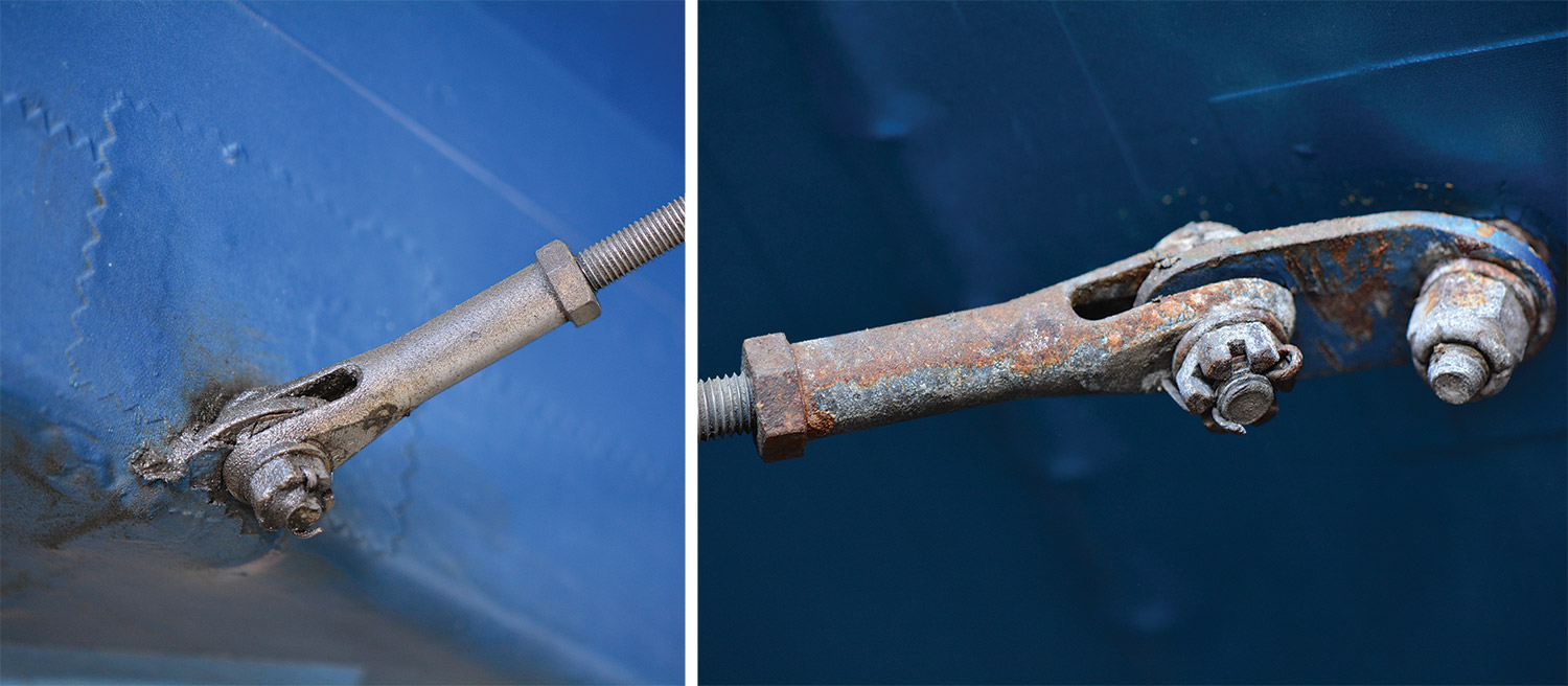rusted aircraft fasteners