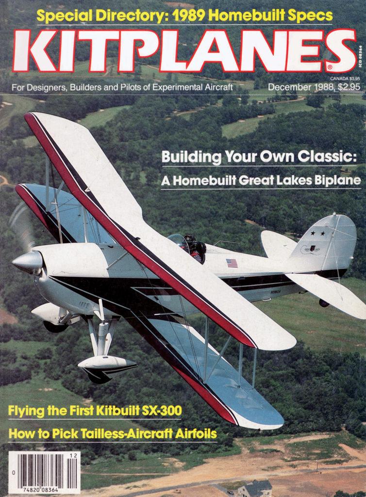 Kitplanes December 1988 Cover