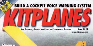 Kitplanes June 1999 cover.