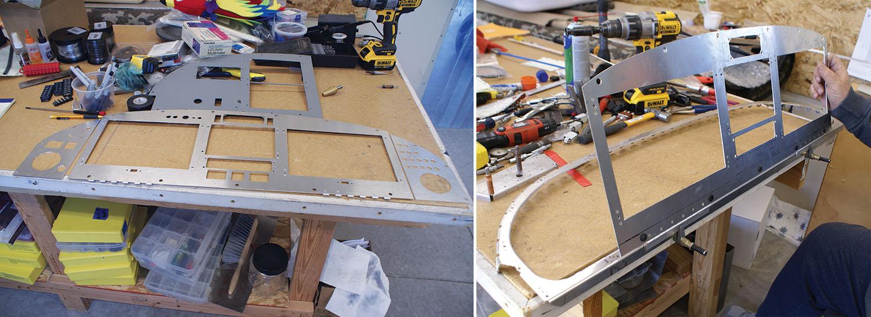 hinged instrument panel