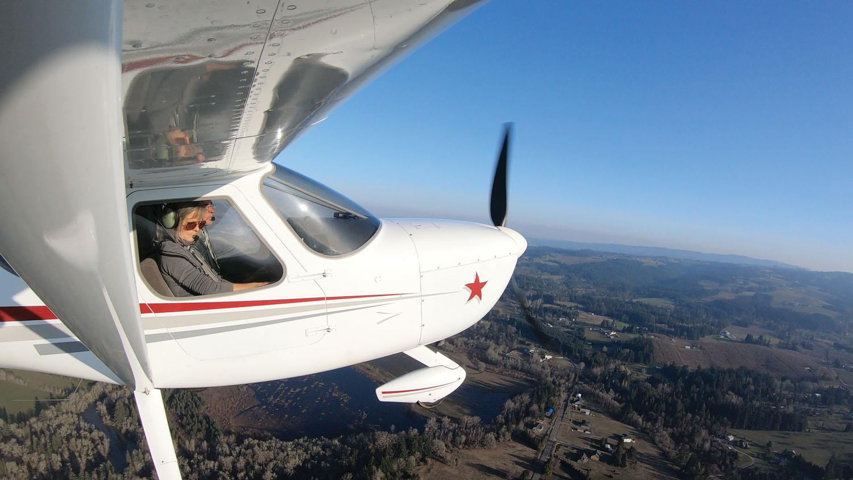 GlaStar in flight