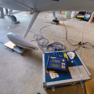 weighing the airplane